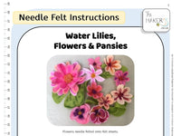 Water Lilies, Flowers & Pansies Instructions PDF