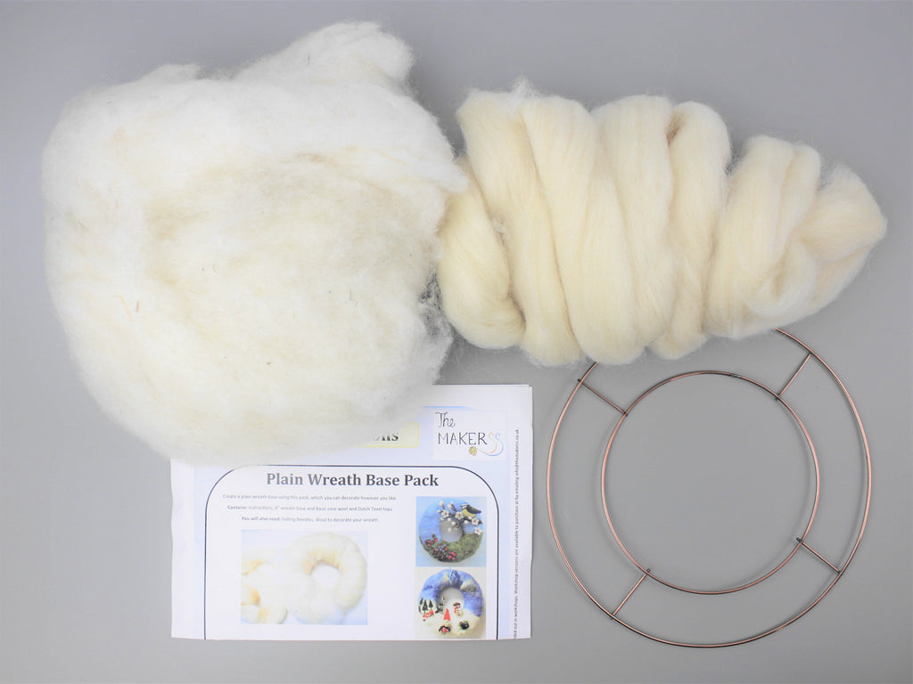 Wreath Base Pack with Wool and Instructions