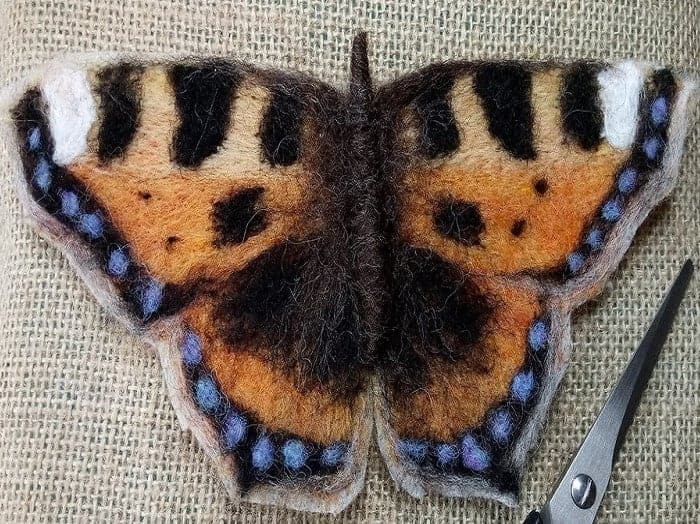 Small Tortoiseshell Butterfly Instructions - two sizes - PDF