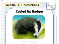 Curled Up Badger Instructions PDF
