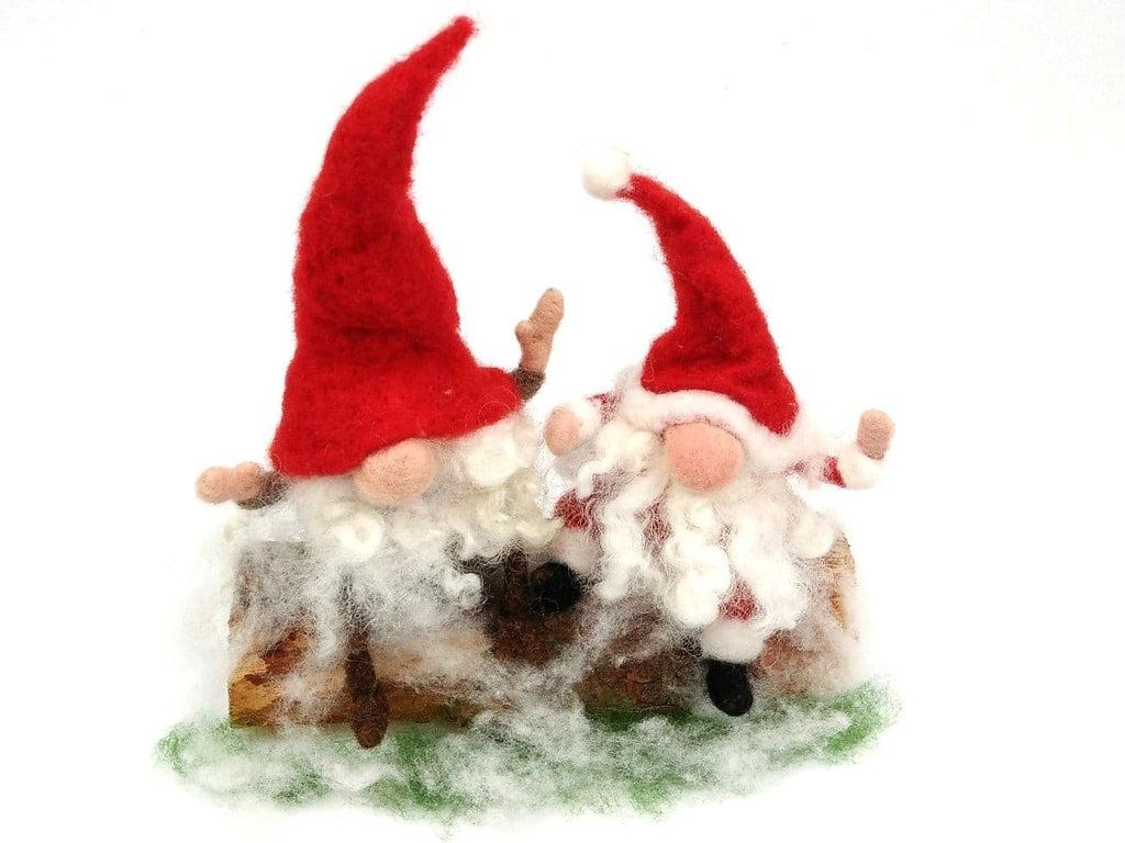 Christmas Gnomes.Gnome Or Tomte Kit Christmas Edition Makes 2 Gnomes Or A Gnome And A Father Christmas