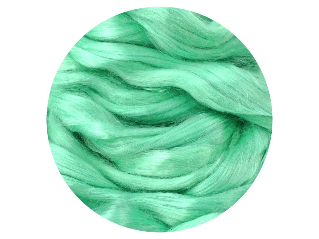 Dyed Ramie - blue/green silk-like plant fibre tops (20g)