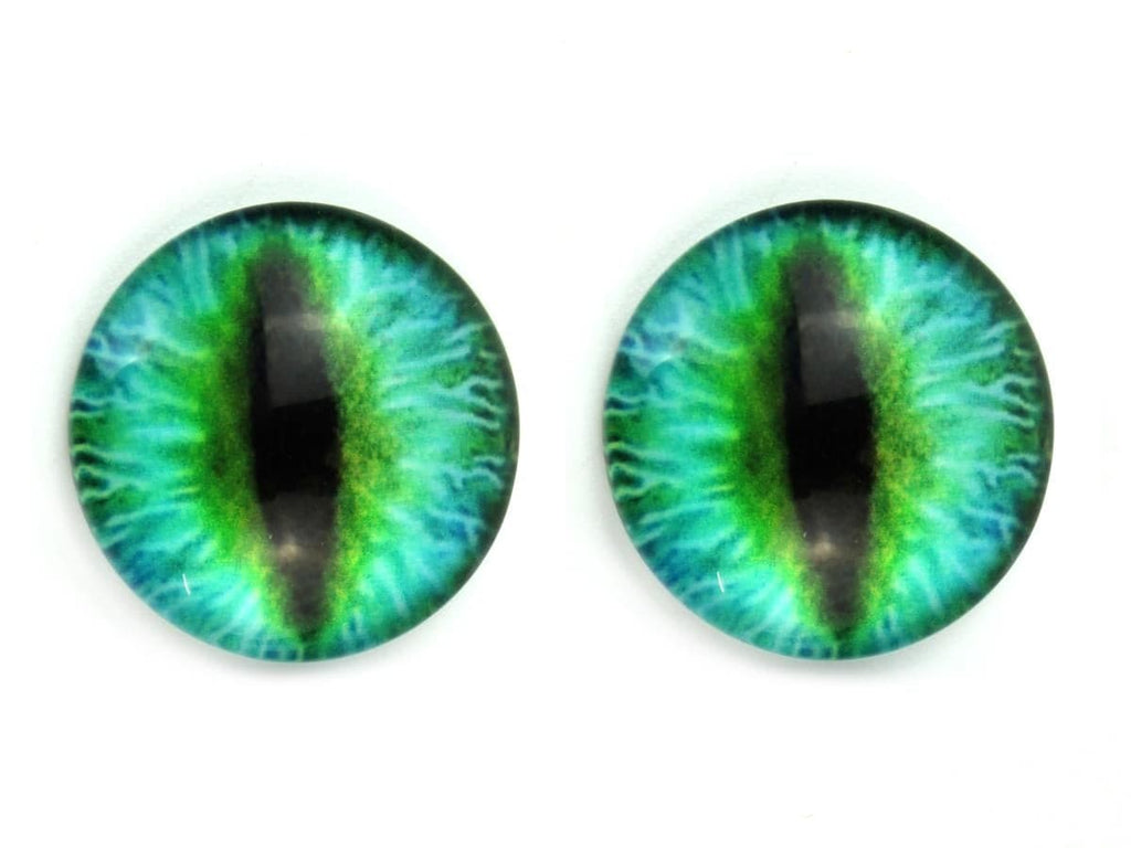 Dragon Glue-On Glass Eyes - pack of 10