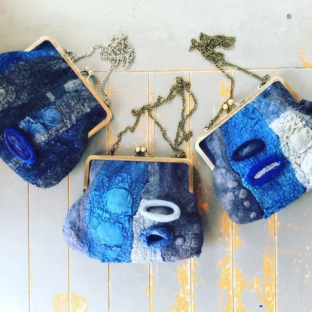 Vivienne Morpeth Purse / Bag Nuno Felt Workshop (Wet felting) Sunday 31st May 2020