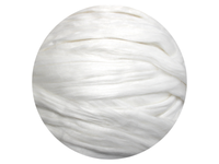 Ramie - white natural silk-like plant fibre wool tops, various weights