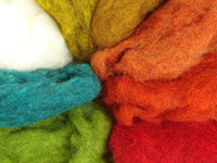 Spice Mix - Dyed Variegated Batts & Natural White - 80g