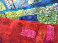 Leaflet for Vivienne Morpeth Workshop: Nuno Felted Scarf (Wet felting)