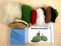 Woodland Pincushion Needle Felt Kit - makes 2 useful pincushions