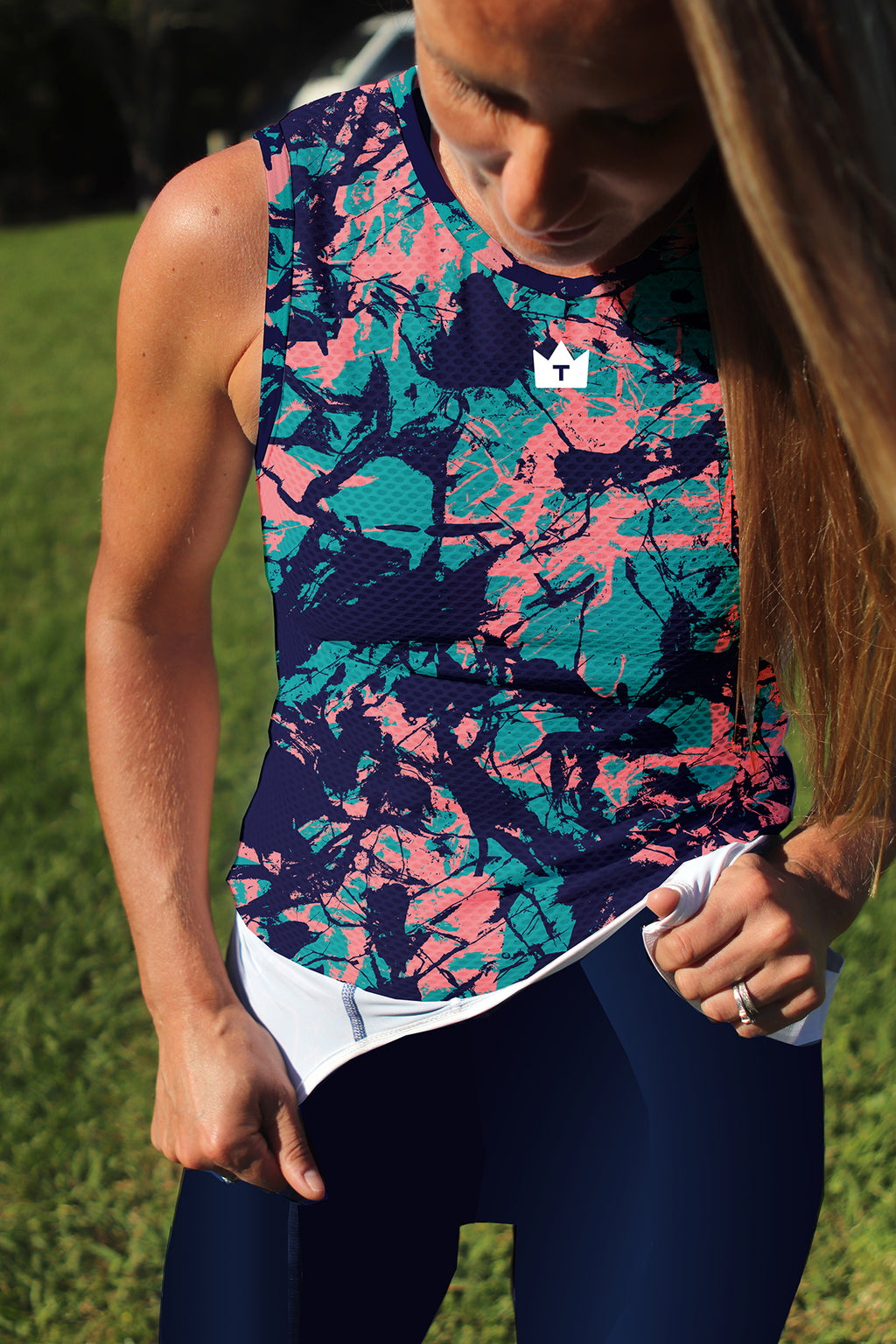 ARMY BAY -- Unisex Base Layer Navy/Teal/Watermelon