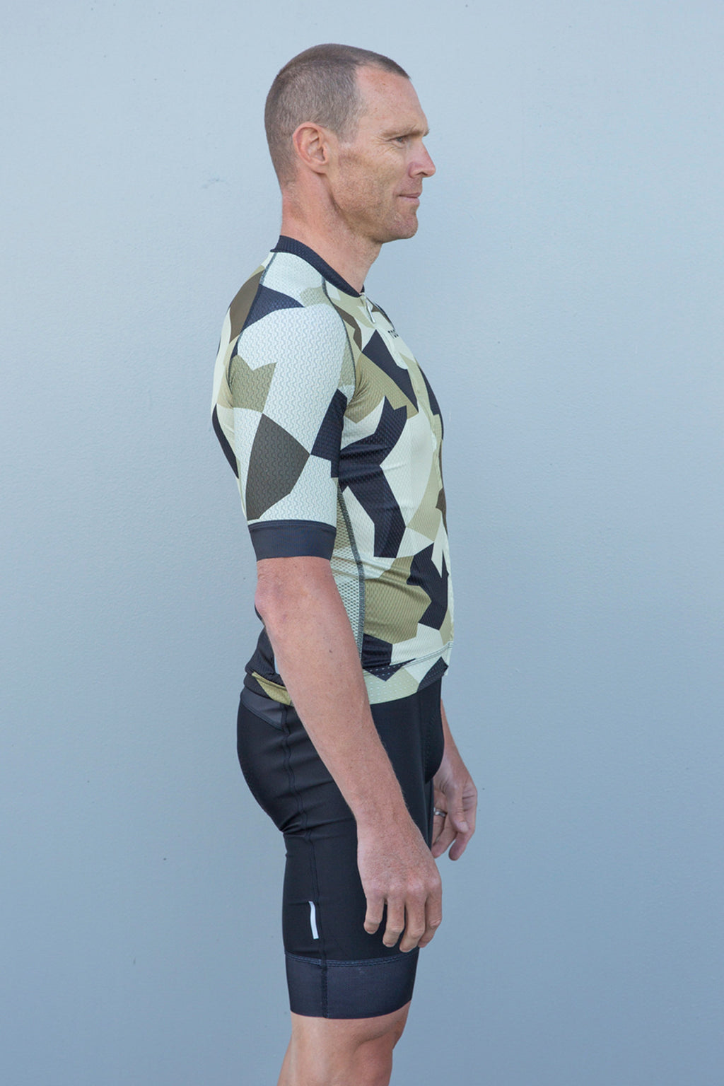 Mens Camo Cycling Top