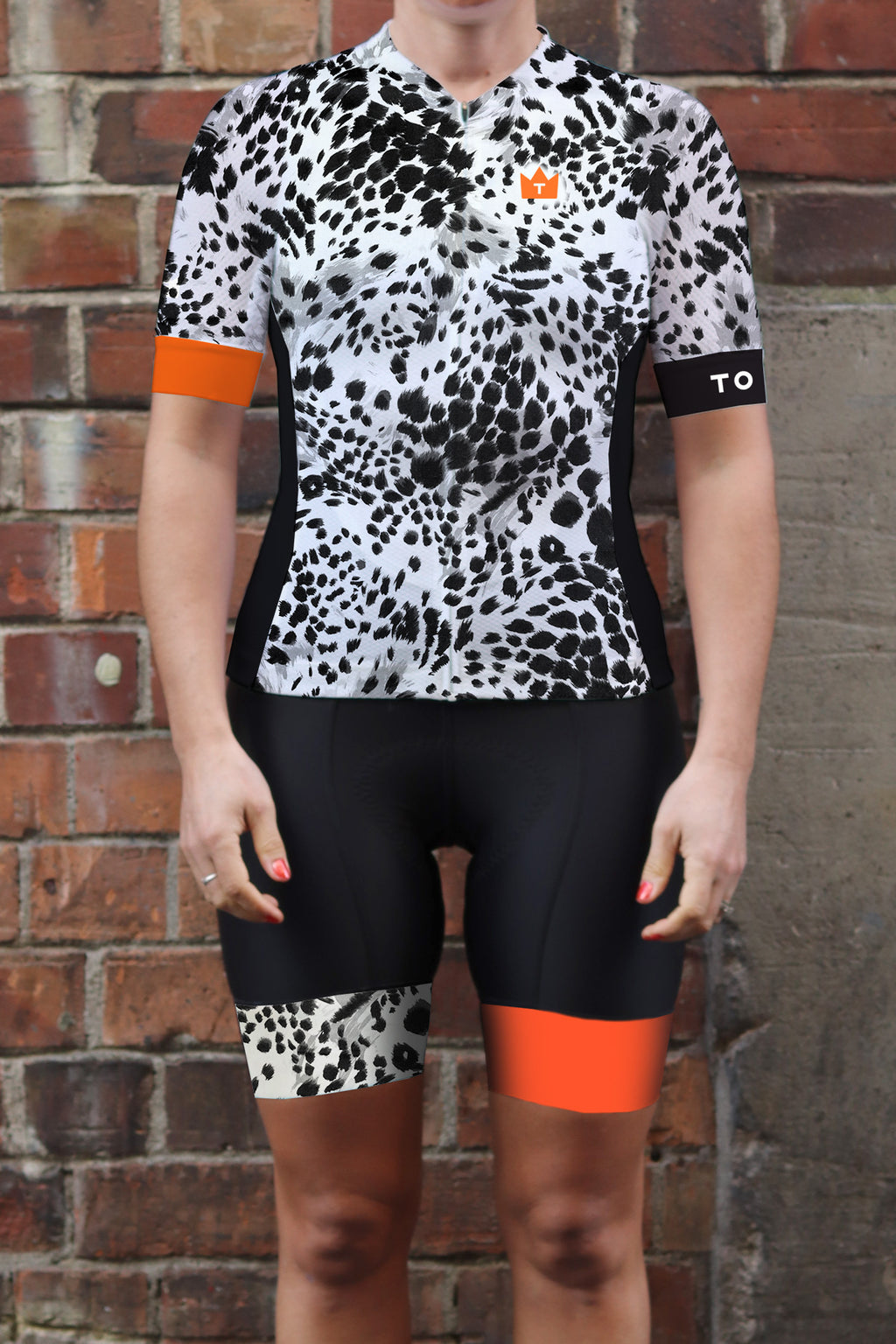 WILDE - Limited Edition Womens ProX2 Jersey - Black/White/Tangerine