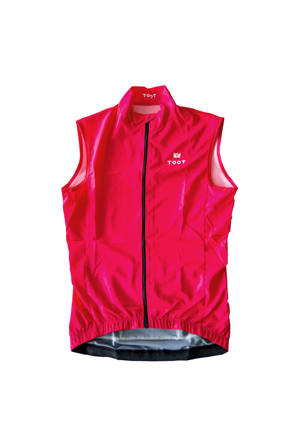 pink womens cycling windvest