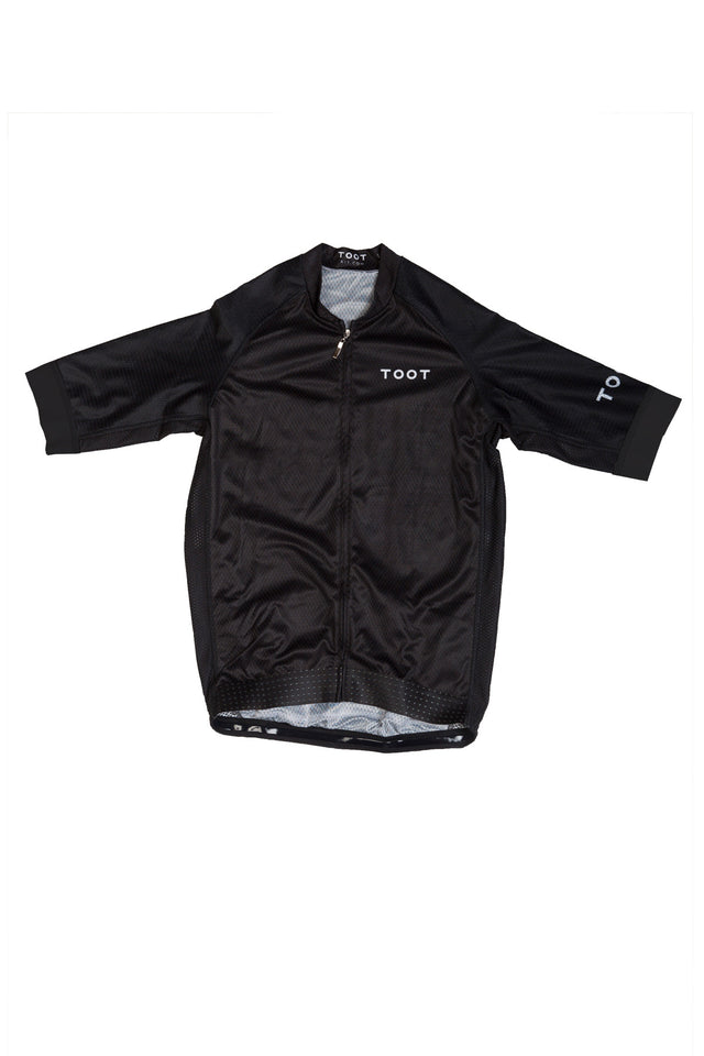 Black Mens Cycling Jersey