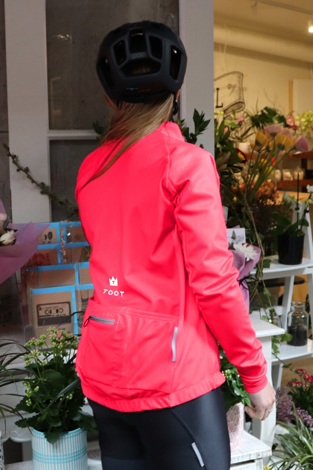 HOT PINK - Womens Long Sleeve Windproof Jacket