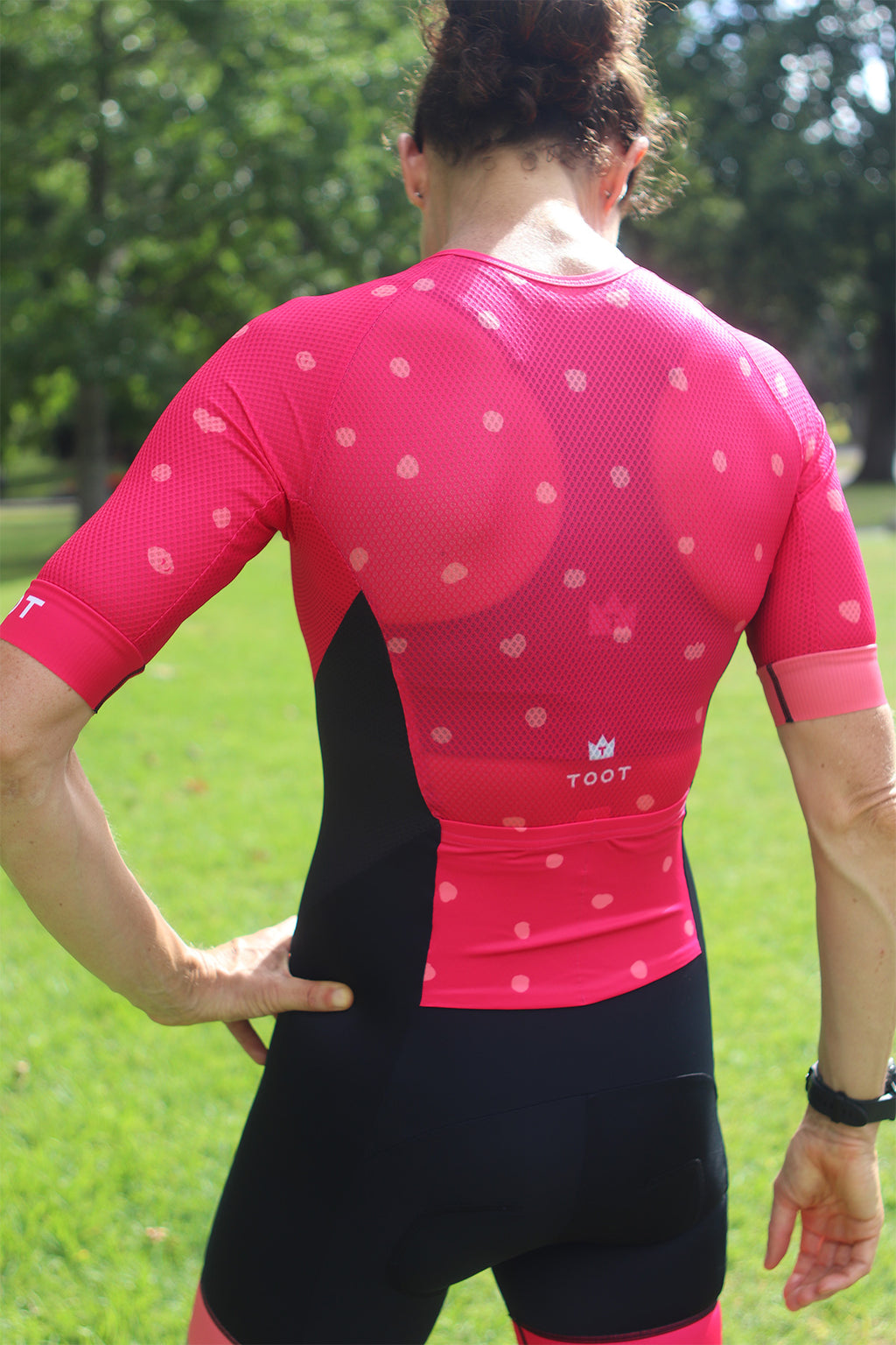 GOING DOTTY  - Pink/Watermelon Womens TRISUIT