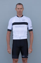 f998ec8a4 Buy MENS JERSEY - WHITE WITH BLACK and MENS BIBS - BLACK WITH WHITE TOOT  CUFF  17 DESIGN together