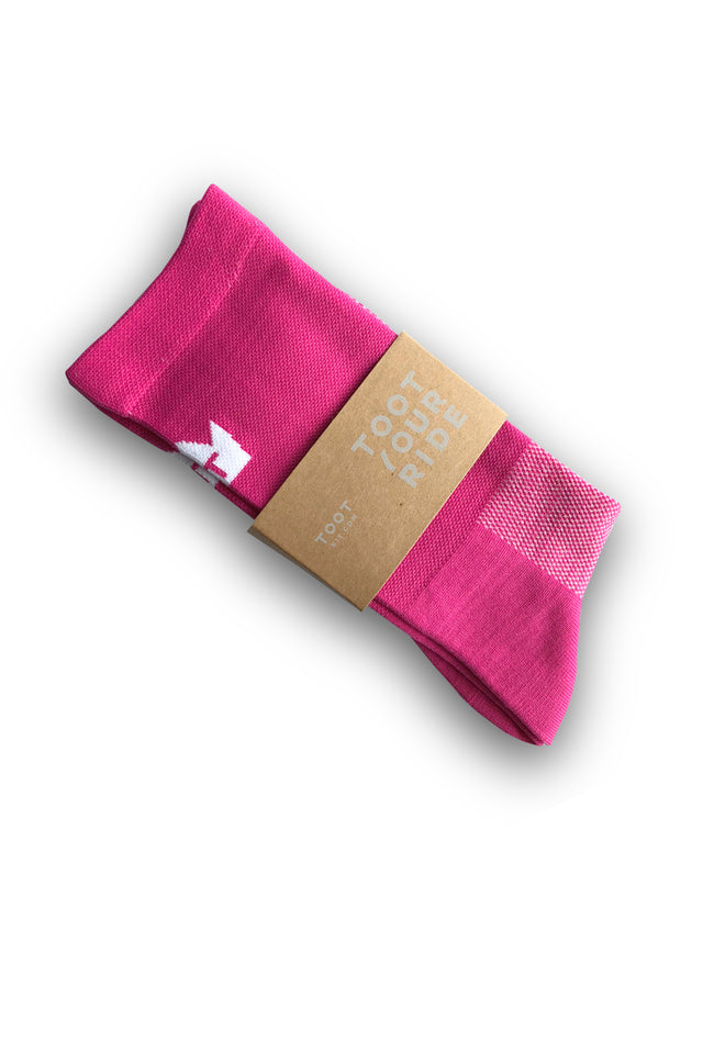 CYCLING SOCKS - PINK