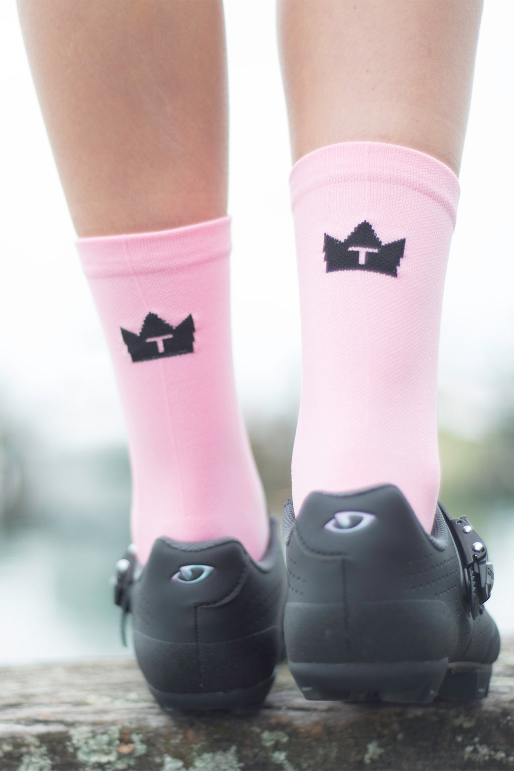CYCLING SOCKS - VINTAGE PINK
