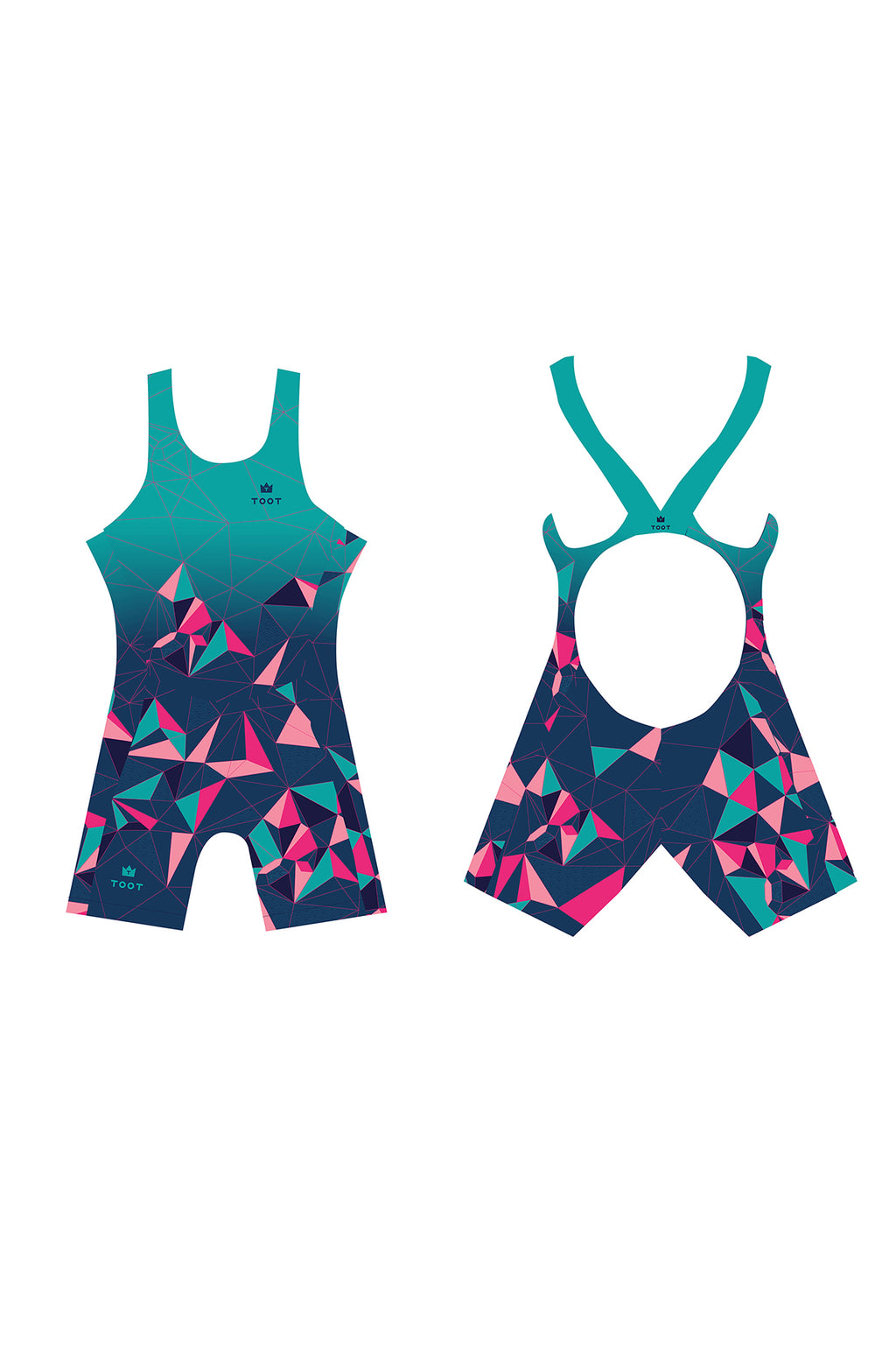 Swimsuit back womens triathlon suit