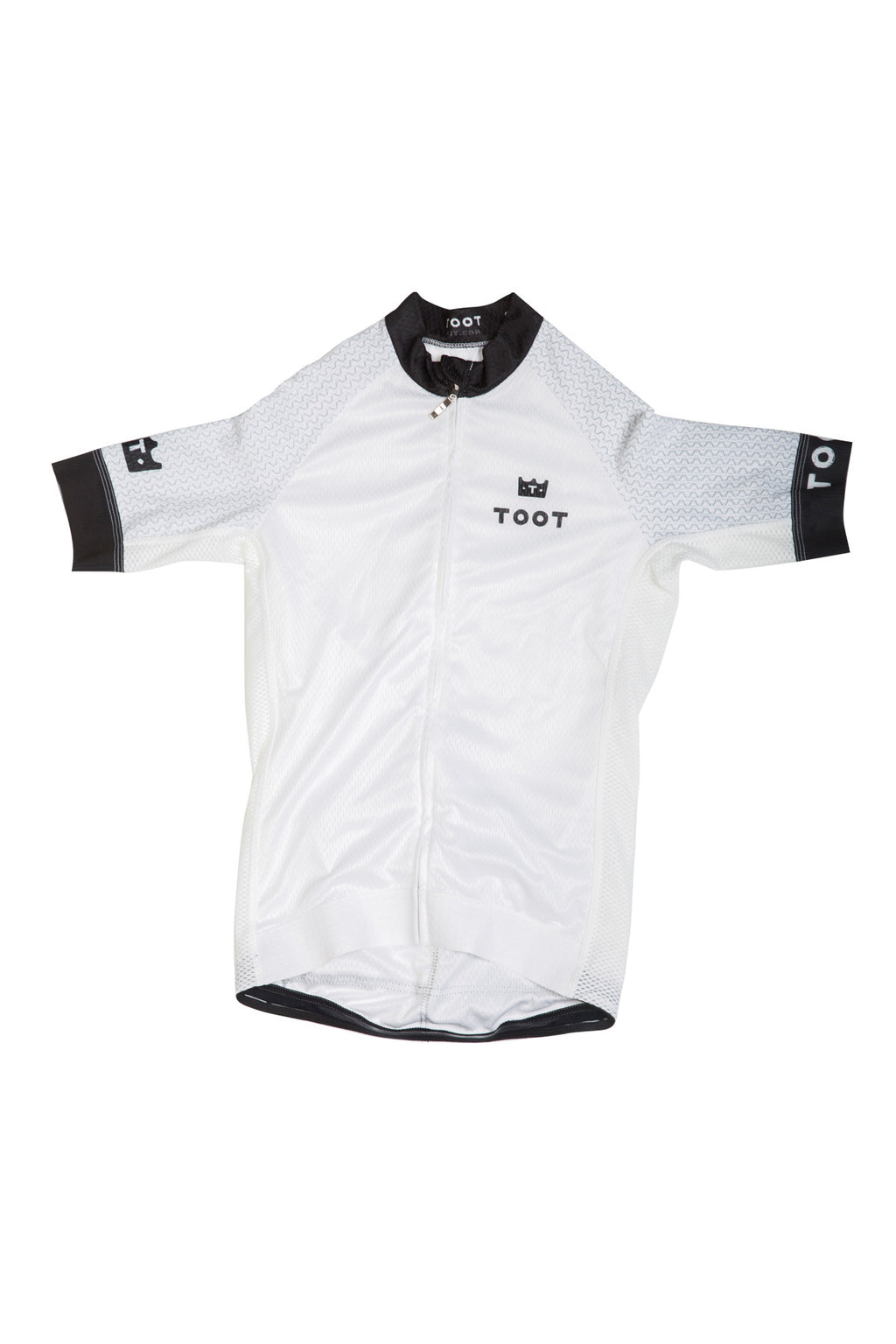 White Womens Cycling Jersey TOOT Doodles