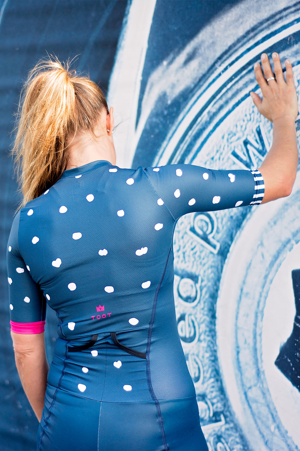 GOING DOTTY  - TRISUIT NAVY/WHITE/PINK