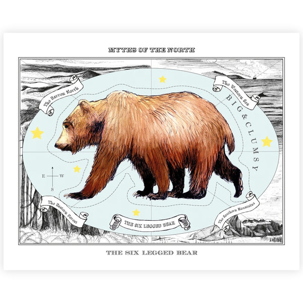 The Six-Legged Bear Print - By Anna Walsh