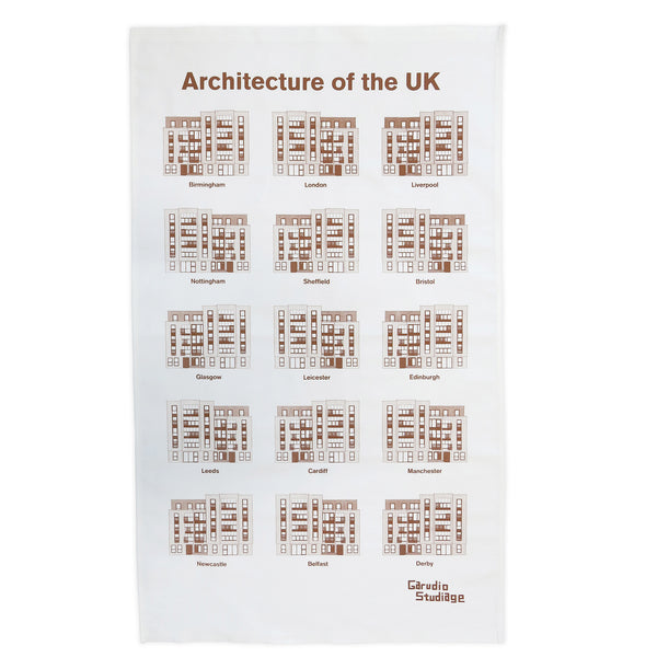 Architecture of the UK Tea Towel