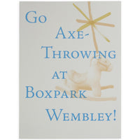 Go Axe Throwing at Boxpark Screen Print - By Chris Ratcliffe