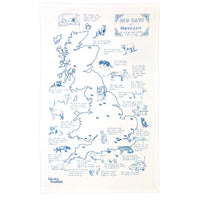 Big Cats of Great Britain Tea Towel
