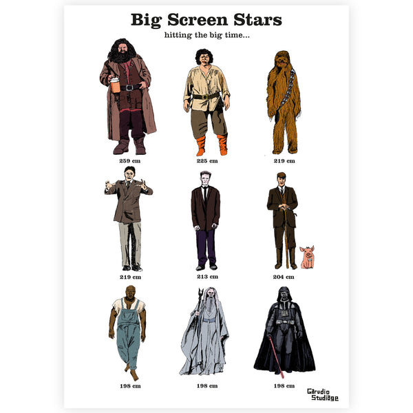 Big Screen Stars Print - By Anna Walsh