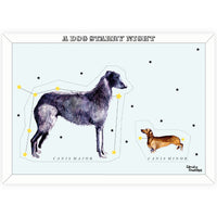 A Dog Starry Night Print - By Anna Walsh