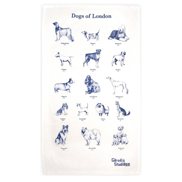 Dogs of London Tea Towel