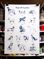 Dogs of London 50 x 70cm Screenprint - By Anna Walsh