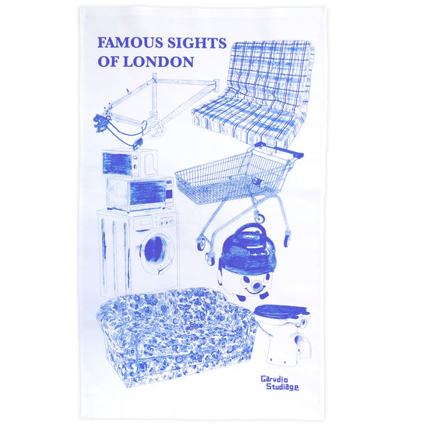 Famous Sights of London Tea Towel