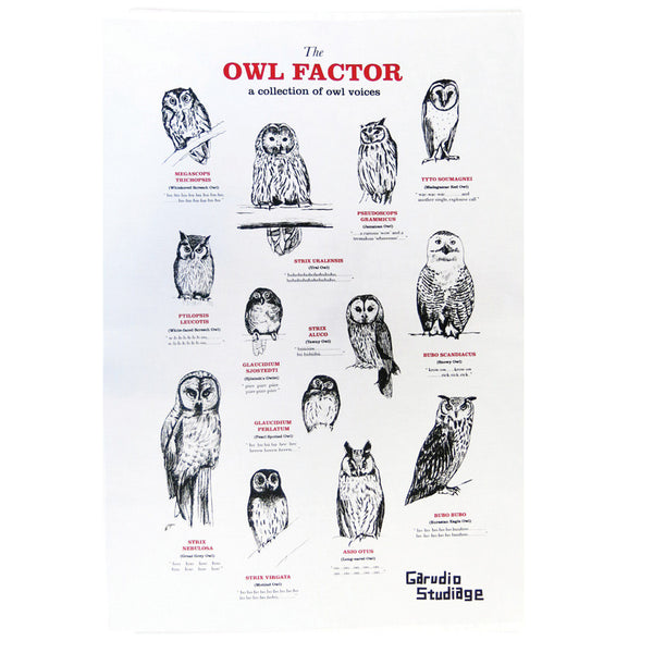 Owl Factor Tea Towel