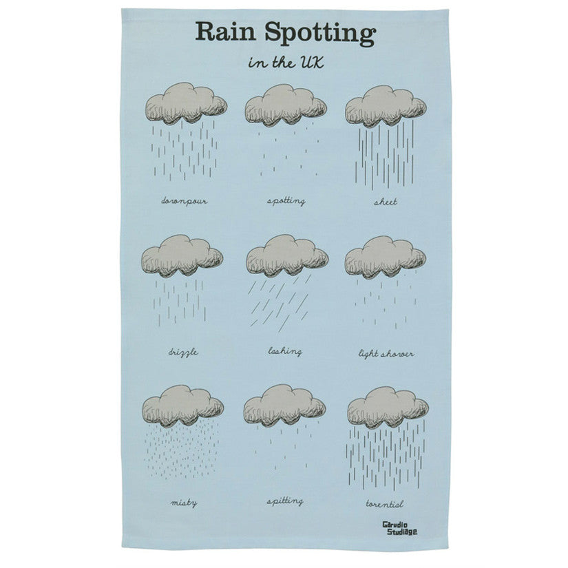 Rain Spotting Tea Towel
