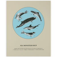 Sea Monster Soup Screen Print - By Anna Walsh