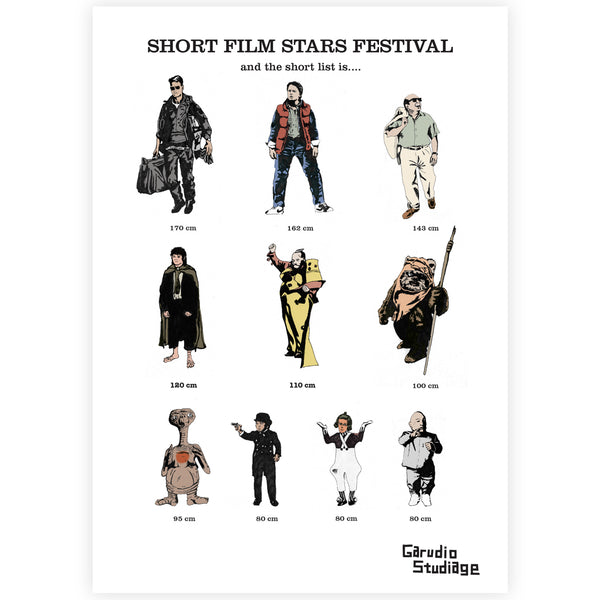 Short Film stars Print - By Anna Walsh