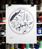 The South Circular Celestial Menagerie Print - By Anna Walsh