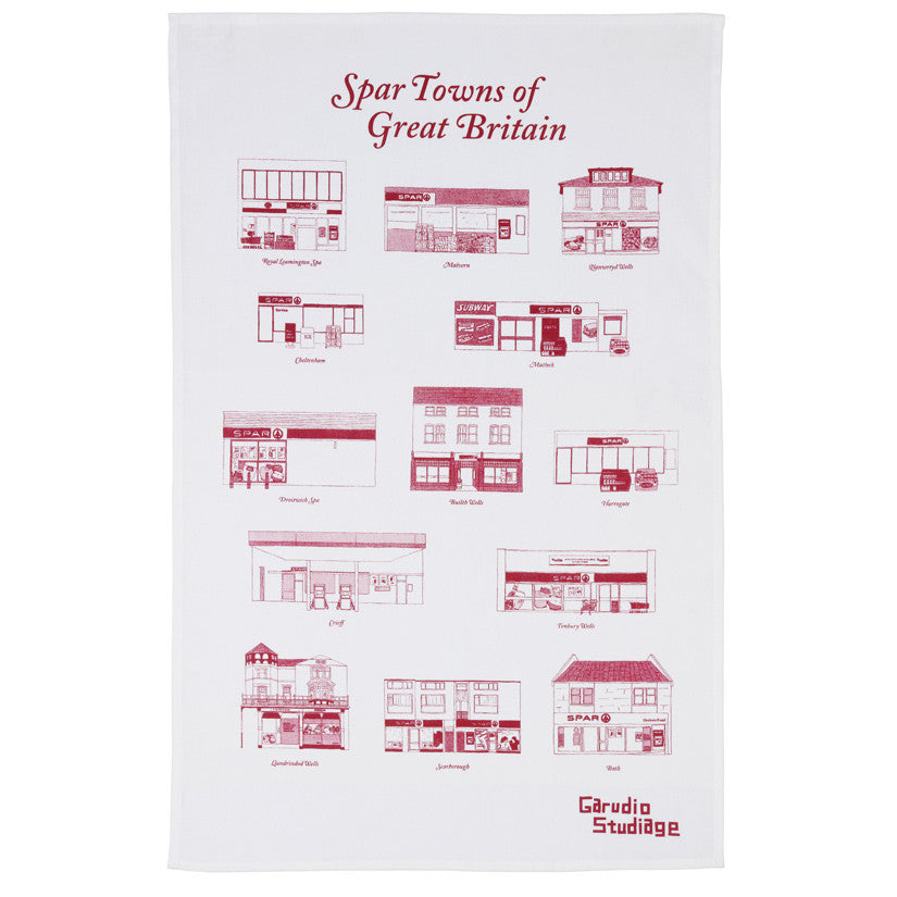 Spar Towns Tea Towel