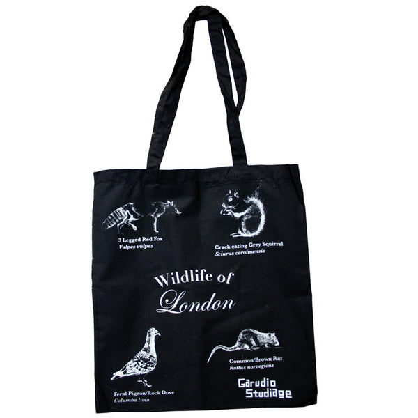 Wildlife of London Tote Bag - Black