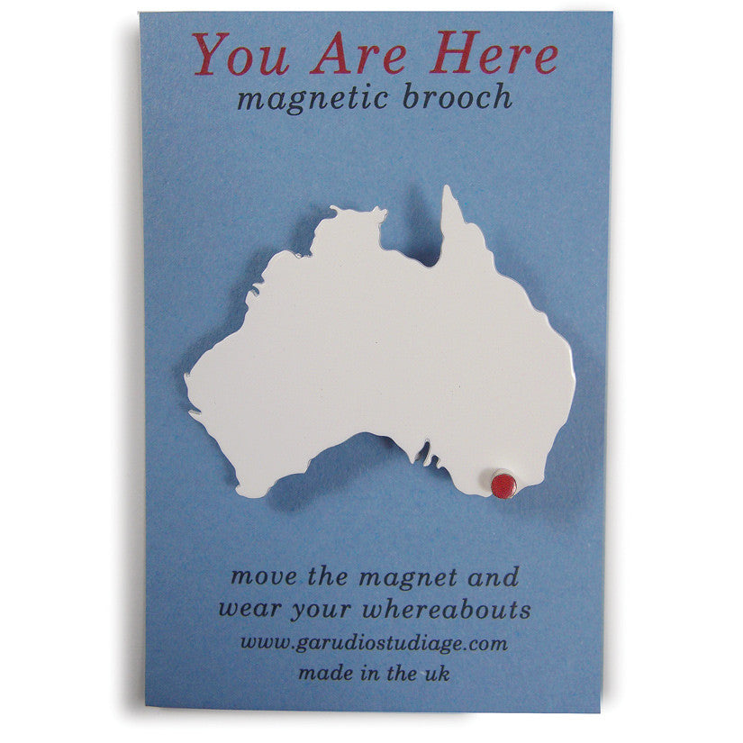 You Are Here Brooch Australia