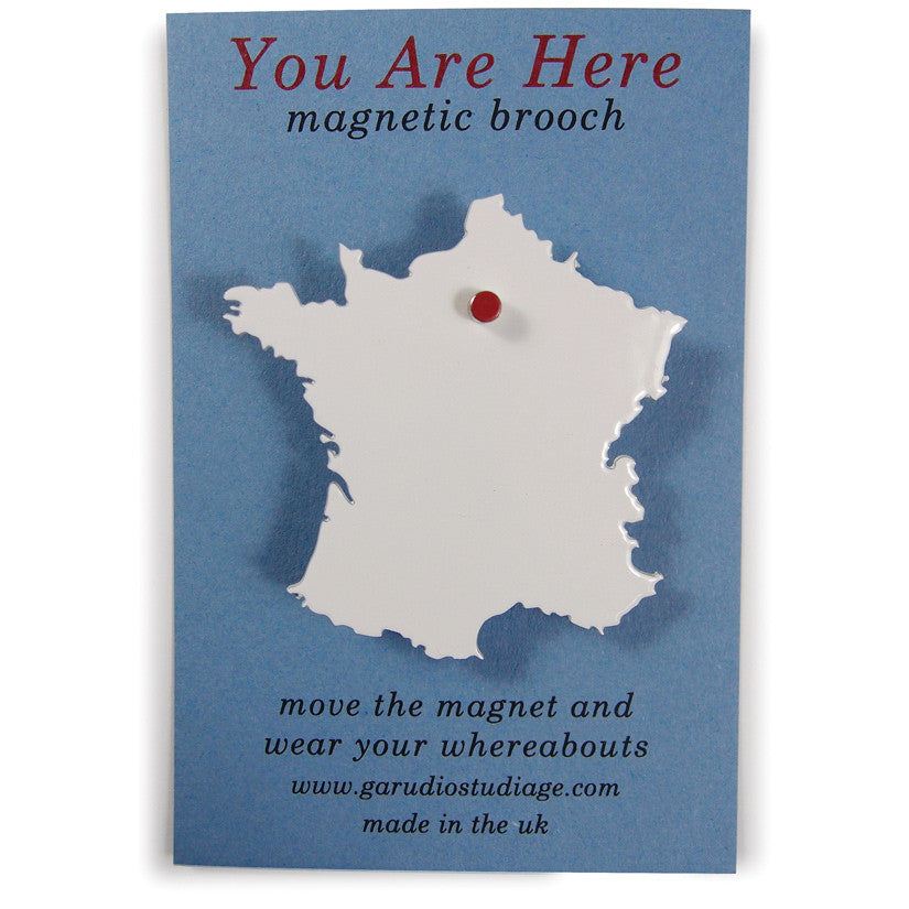 You Are Here Brooch France