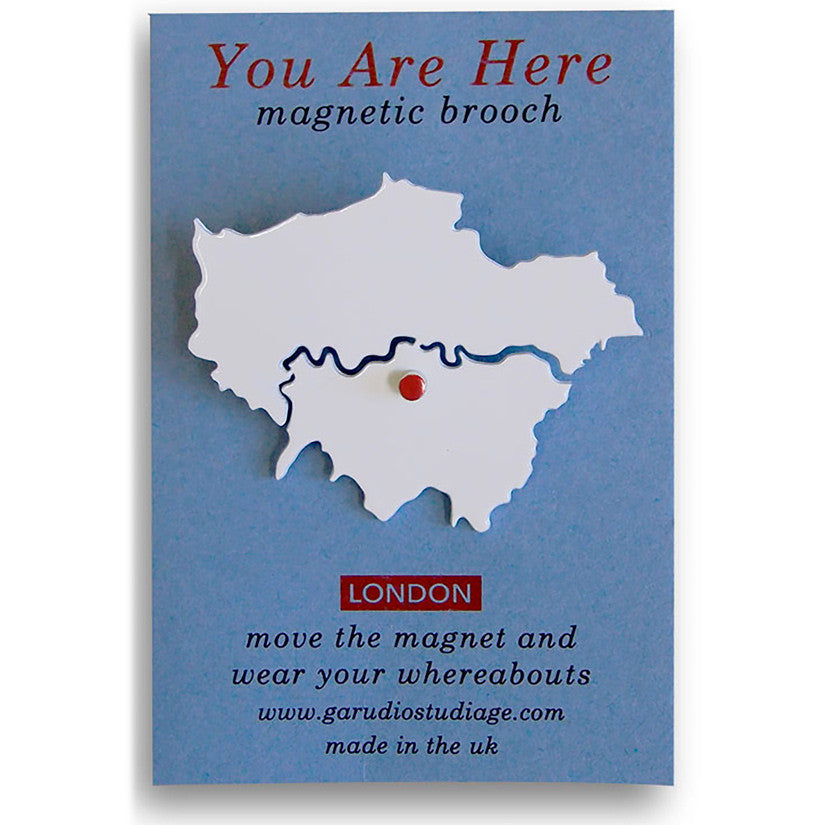 You Are Here Brooch London