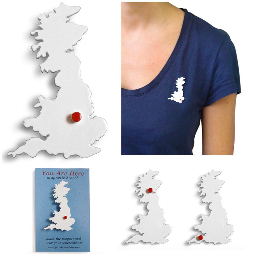 You Are Here Brooch UK