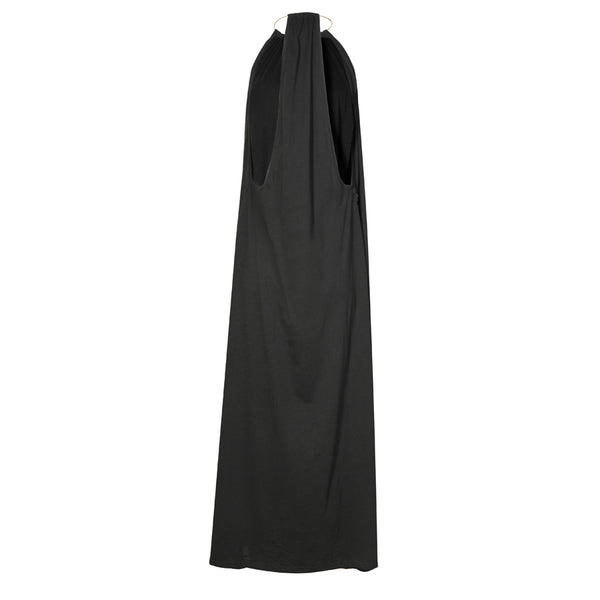 MELINA maxi long dress with cross stiched pin