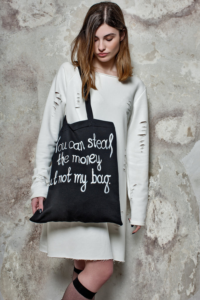 """Letters"" sweatshirt bag"