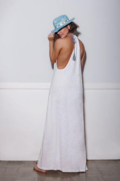 MELINA maxi long dress off white