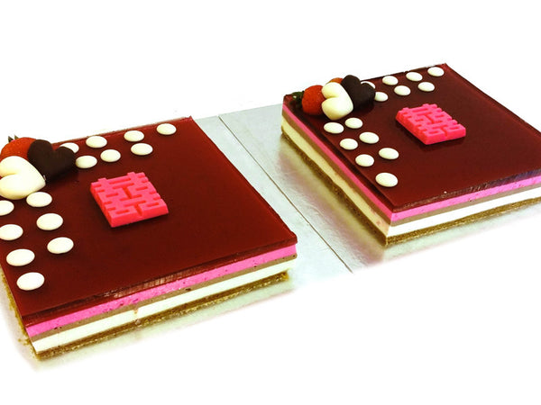 Neapolitan 7inch Square with Add-On Chocolate