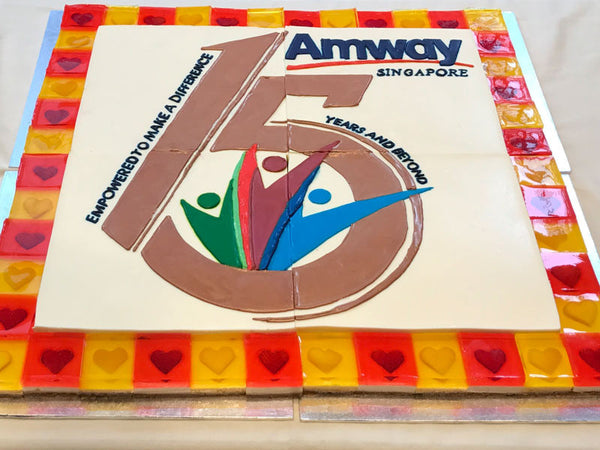 Hand-Drawn Logo Cake for Amway